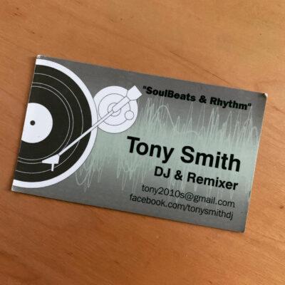 DJ Tony Smith - Business Card